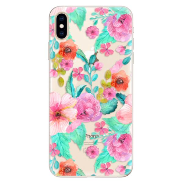Silikonové pouzdro iSaprio - Flower Pattern 01 - iPhone XS Max