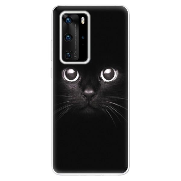Odolné silikonové pouzdro iSaprio - Black Cat - Huawei P40 Pro