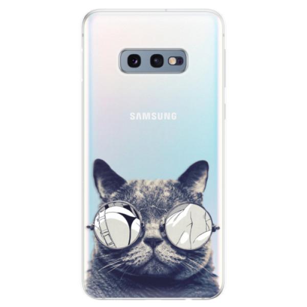 Odolné silikonové pouzdro iSaprio - Crazy Cat 01 - Samsung Galaxy S10e