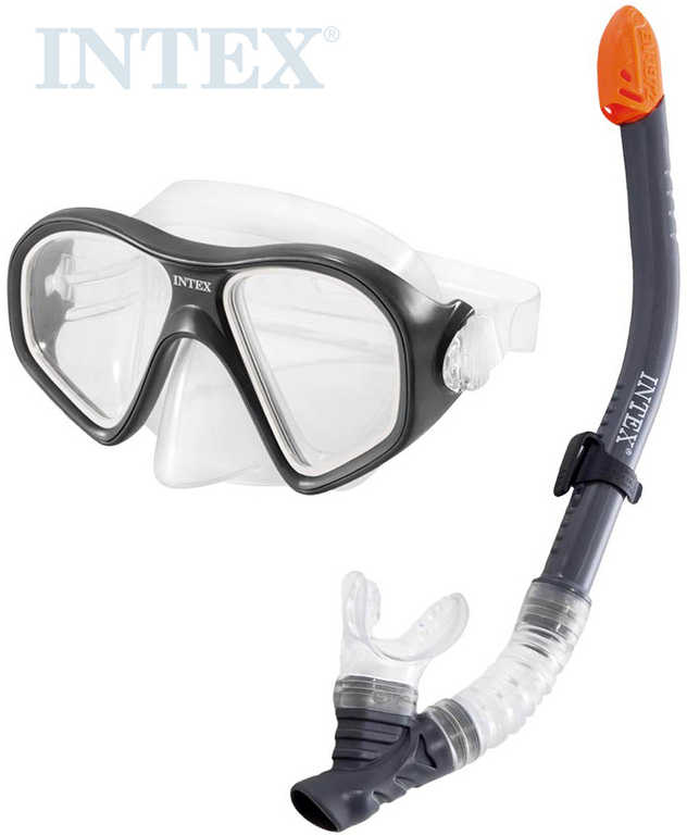INTEX Reef Rider potápěčský plavecký set do vody brýle + šnorchl černý 55648