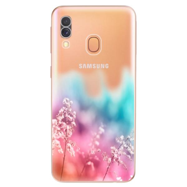 Odolné silikonové pouzdro iSaprio - Rainbow Grass - Samsung Galaxy A40