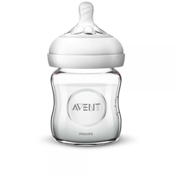 Dětská skleněná láhev Avent Natural