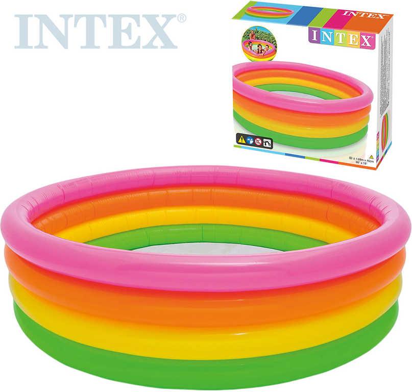 INTEX Bazén dětský nafukovací 168x46cm čtyřbarevný kruh Sunset glow 56441