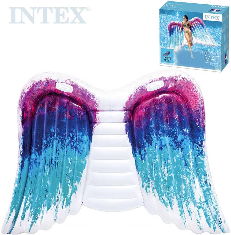 INTEX Lehátko nafukovací Andělská křídla 251x160cm matrace s úchyty na vodu 58786