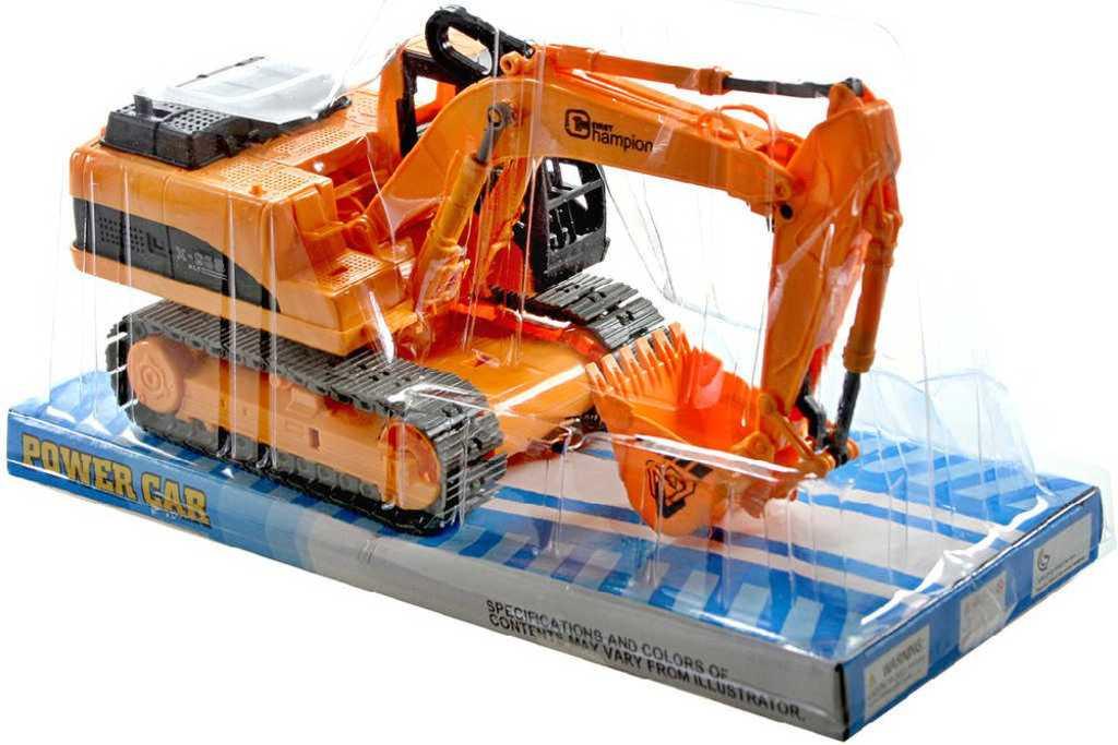 Bagr plastový na setrvačník 24cm oranžový