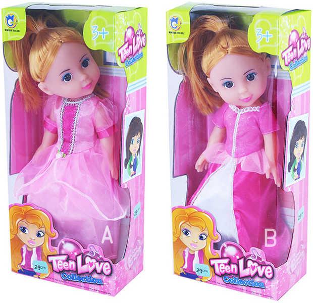 Panenka Princezna v růžových šatech 29cm - 2 druhy