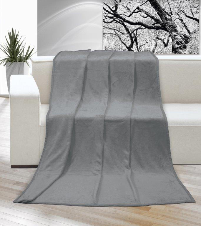 Deka micro jednolůžko 150x200cm šedá