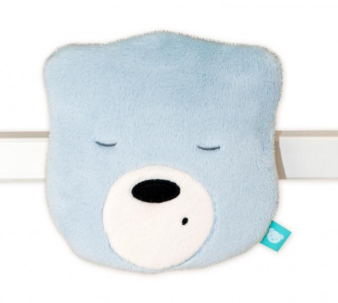 Mini šumící Medvídek - hlava - sv. šedá