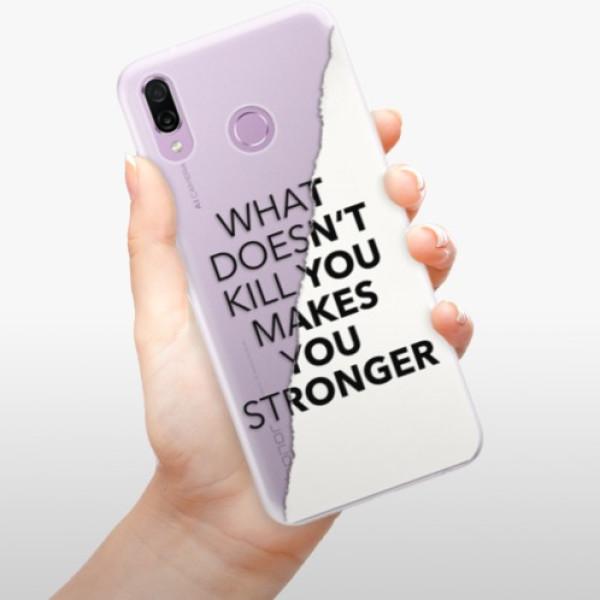 Silikonové pouzdro iSaprio - Makes You Stronger - Huawei Honor Play