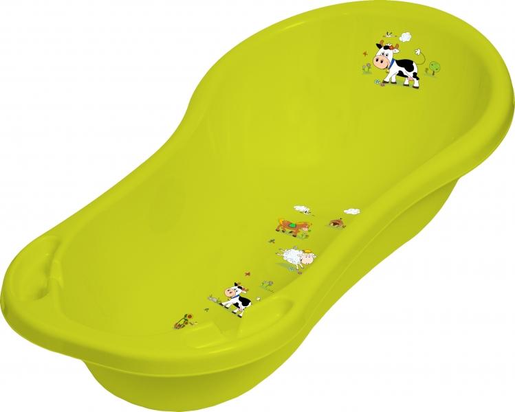 Dětská vanička Funny Farm 100cm - zelená