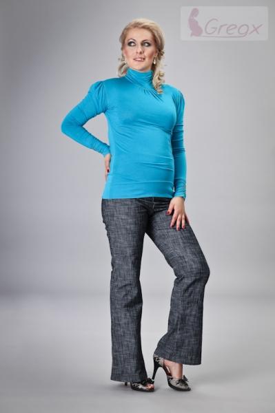 gregx-elegantni-tehotenske-kalhoty-jeans-granatovy-melir-l-40