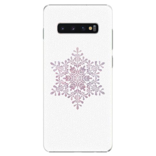 Plastové pouzdro iSaprio - Snow Flake - Samsung Galaxy S10+