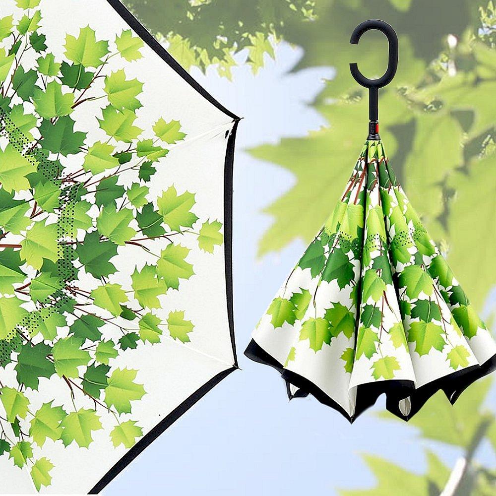 Obrácený deštník - listy