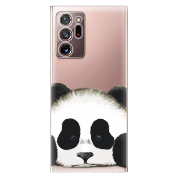 Odolné silikonové pouzdro iSaprio - Sad Panda - Samsung Galaxy Note 20 Ultra