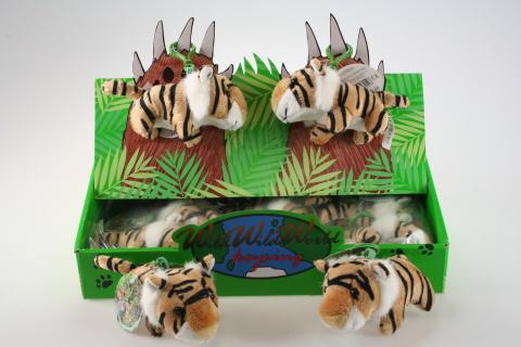 Plyš Tygr hnědý klíčenka 24/bal