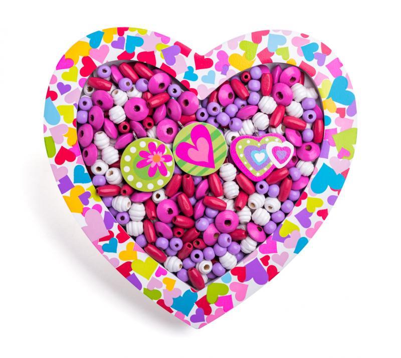 Navlékací korálky - Srdce
