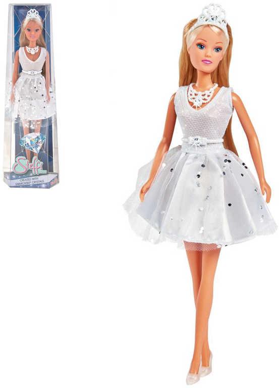 SIMBA Panenka Steffi bílé šaty se Swarovsky crystaly set s doplňky