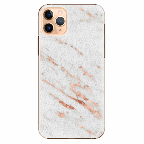 Plastový kryt iSaprio - Rose Gold Marble - iPhone 11 Pro Max