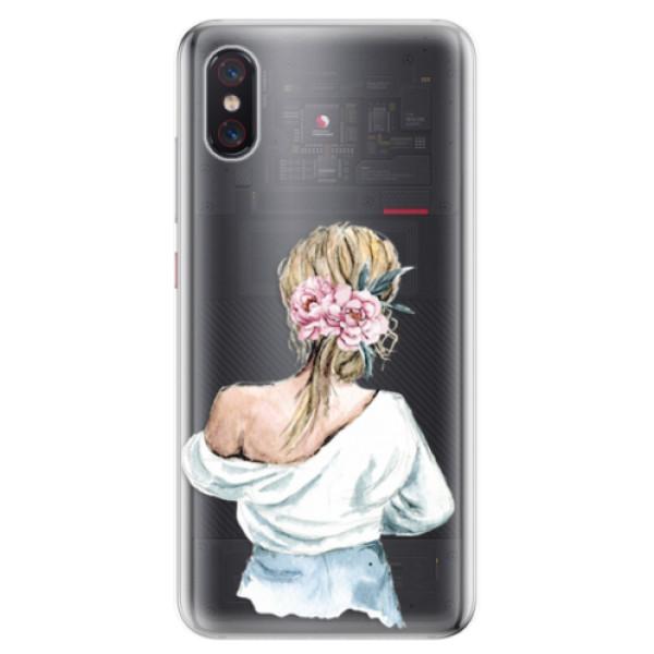 Odolné silikonové pouzdro iSaprio - Girl with flowers - Xiaomi Mi 8 Pro