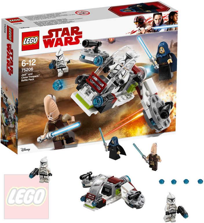 LEGO STAR WARS Bitevní balíček Jediů a klonových vojáků 75206 STAVEBNICE