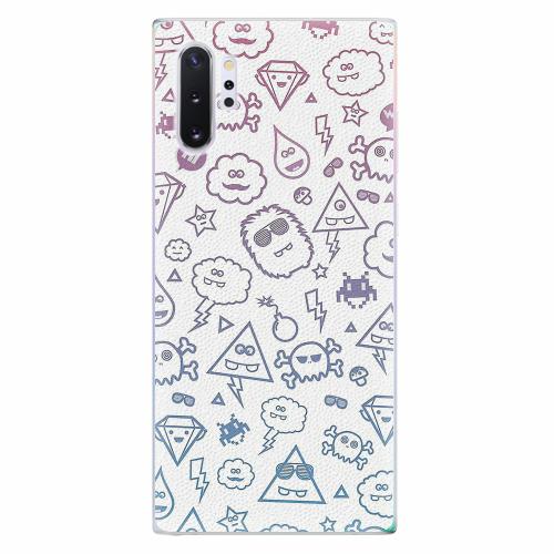 Silikonové pouzdro iSaprio - Funny Clouds - Samsung Galaxy Note 10+