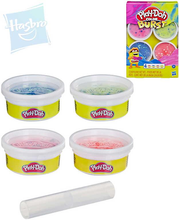HASBRO PLAY-DOH Modelína barevné balení set 4 kelímky různé druhy