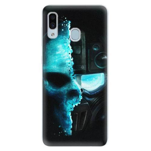 Silikonové pouzdro iSaprio - Roboskull - Samsung Galaxy A30
