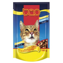 TEO kapsička kočka drůbeží 100g