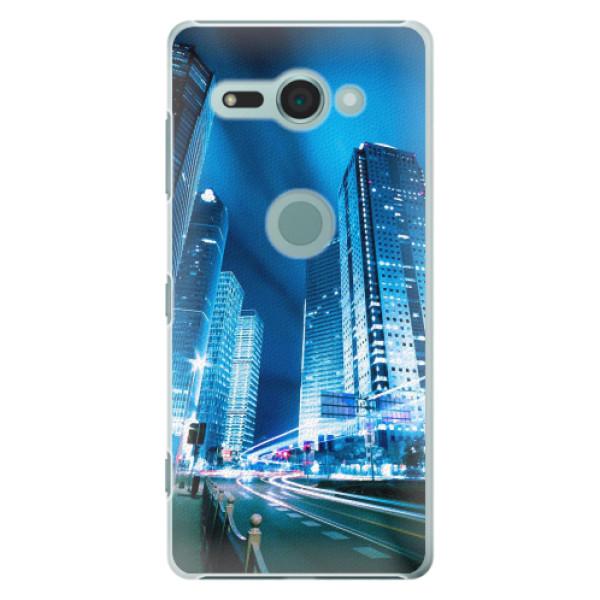 Plastové pouzdro iSaprio - Night City Blue - Sony Xperia XZ2 Compact