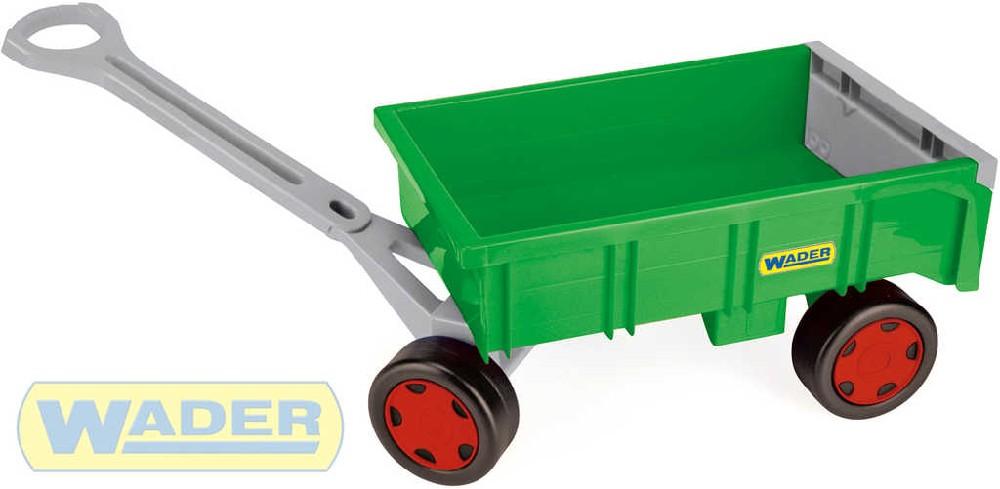 WADER Vlečka dětský vozík 95cm Farmer zelený nosnost 60kg plast 10915