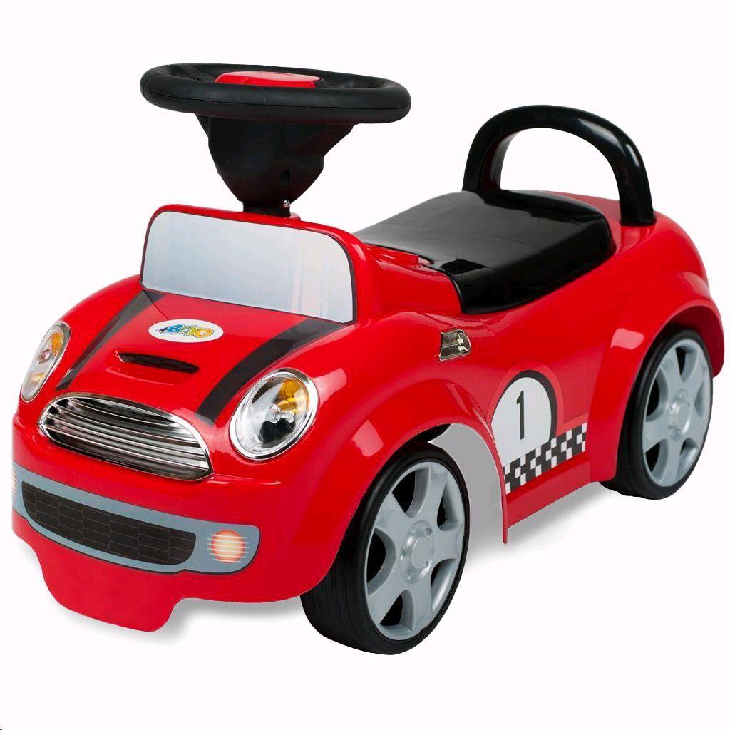 Dětské odrážedlo se zvukem Miniautíčko Bayo red - červená