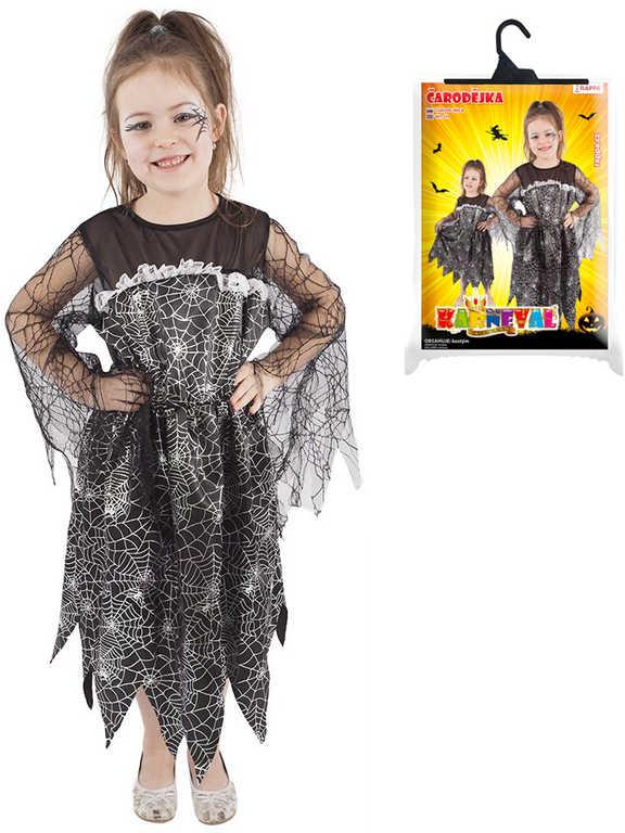 KARNEVAL Šaty čarodějnice vel.S (110-116 cm) 4-6 let KOSTÝM