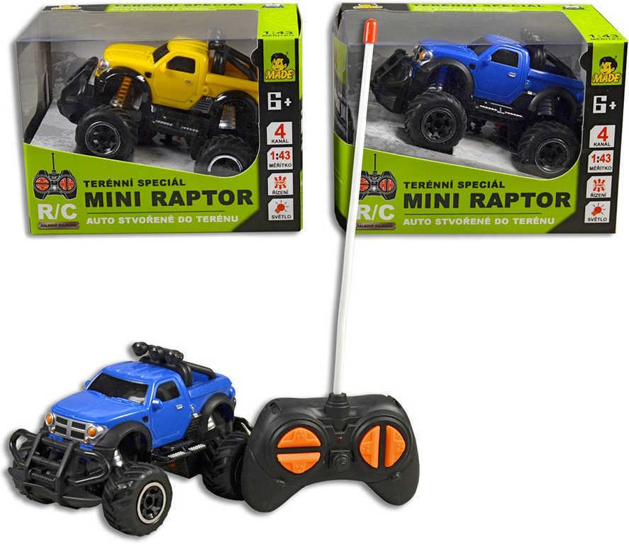 RC Auto džíp mini 12,5cm off-road na dálkové ovládání na baterie - 2 barvy