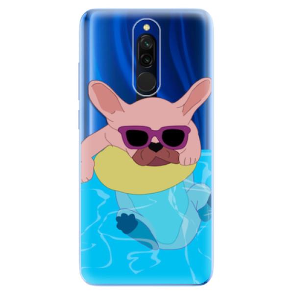Odolné silikonové pouzdro iSaprio - Swimming Dog - Xiaomi Redmi 8