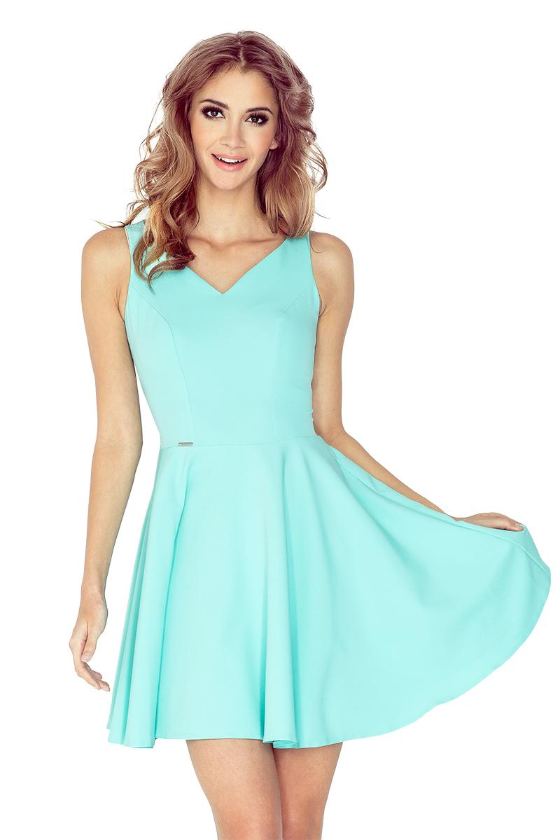 Mátově zelené šaty s kolovou sukní model 4977916 - XL