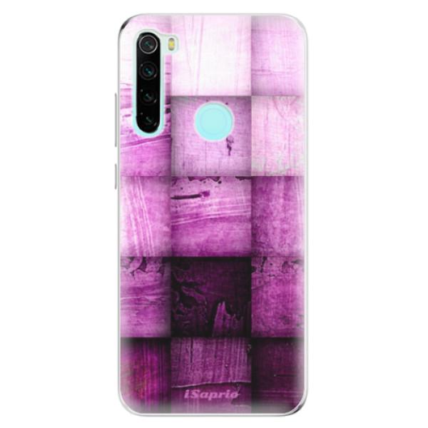 Odolné silikonové pouzdro iSaprio - Purple Squares - Xiaomi Redmi Note 8