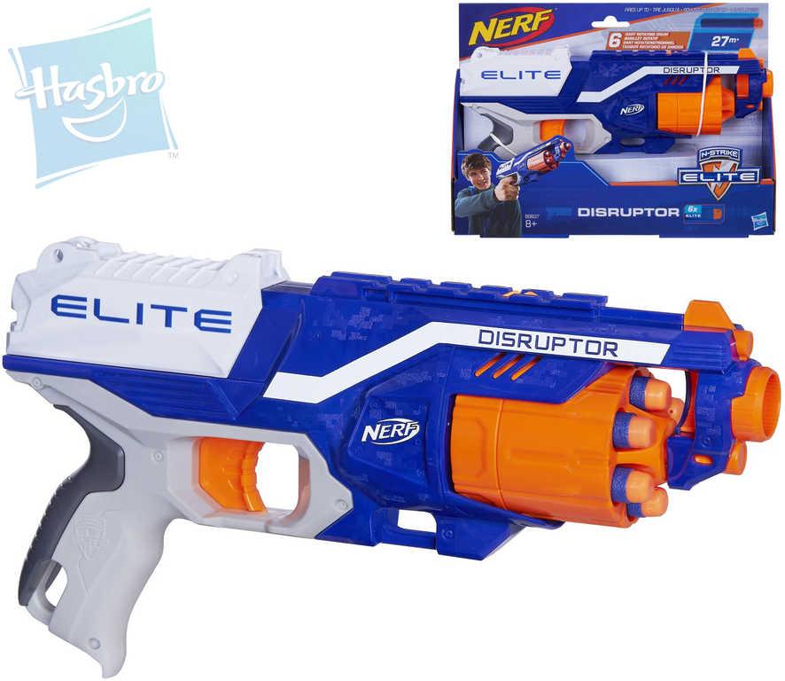 HASBRO Nerf ELITE Disruptor pistole dětská bubnový zásobník na 6 nábojů plast