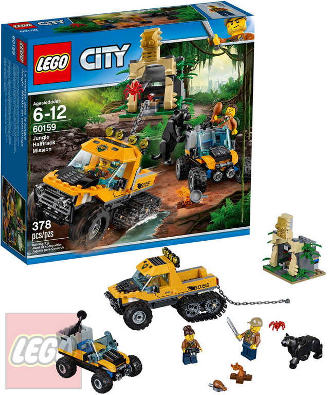 LEGO CITY Obrněný transportér do džungle 60159 STAVEBNICE