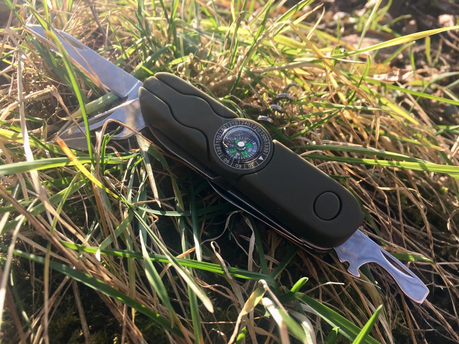 Svítící kapesní nůž s kompasem