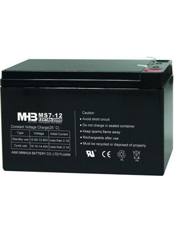 Pb akumulátor MHB VRLA AGM 12V/7Ah (MS7-12)-faston 6,3 mm - černá