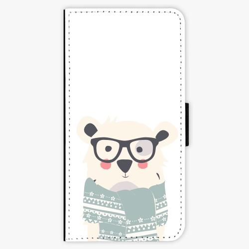 Flipové pouzdro iSaprio - Bear with Scarf - iPhone 7 Plus