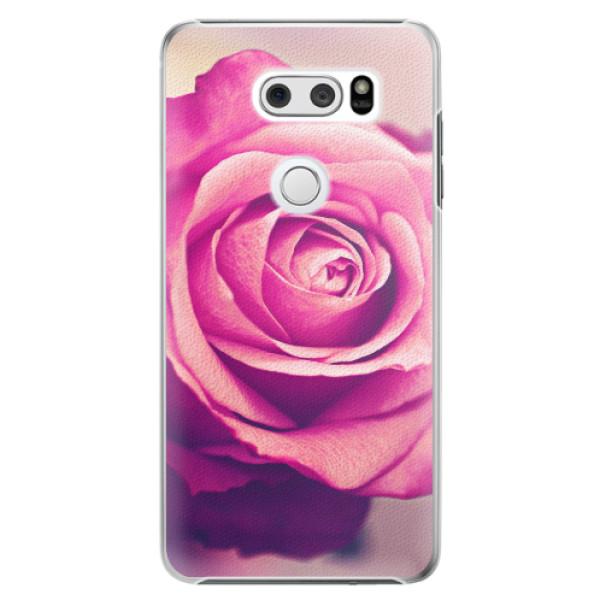 Plastové pouzdro iSaprio - Pink Rose - LG V30