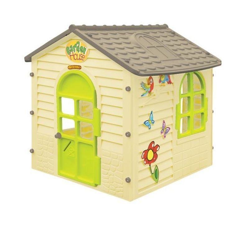 Dětský domeček Mochtoys s kytičkami