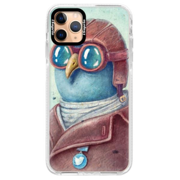 Silikonové pouzdro Bumper iSaprio - Pilot twitter - iPhone 11 Pro Max