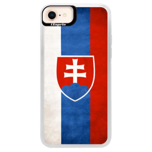 Neonové pouzdro Pink iSaprio - Slovakia Flag - iPhone 8