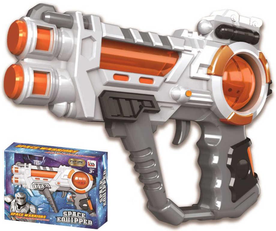 Pistole vesmírná plastová 23cm na baterie Světlo Zvuk