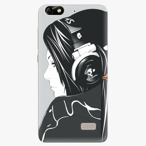 Plastový kryt iSaprio - Headphones - Huawei Honor 4C