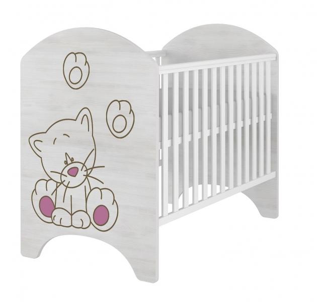babyboo-detska-postylka-lux-s-vyrezem-kocicka-ruzova-120x60cm