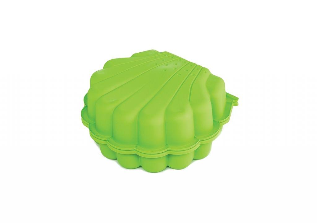 Pískoviště / bazének mušle s krytem, 2 ks, zelená