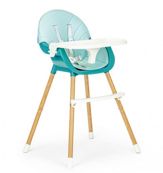 ECO TOYS Jídelní židlička, stoleček 2v1 Colby - světle modrá